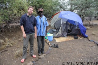 2014_Nick and Ektala with Nicks destroyed tent