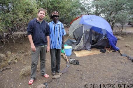 2014_Nick and Ektala with Nicks destroyed tent