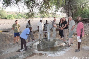 2014_pumping water at the WTAP well