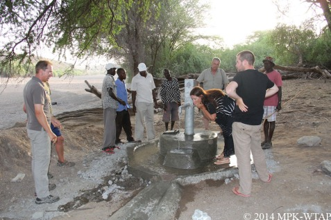 2014_sampling the drinking water at the WTAP well