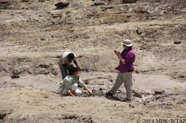 2014_sonia, hilary and sammy identify stone tools