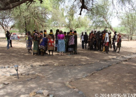 2014_Turkana people arrive at the WTAP camp for a wedding celebration