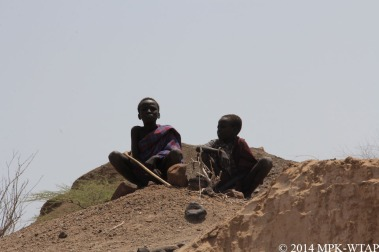 2014_two young goatherders watch the excavation of LOM3