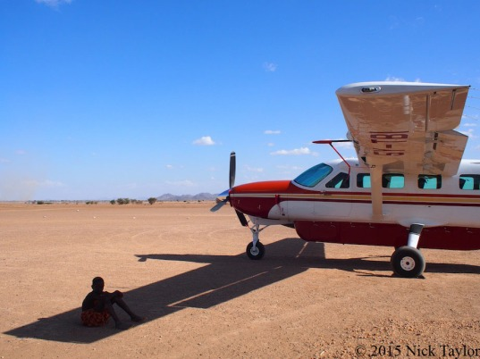2015_Landing on a dry lake-bed in Turkana