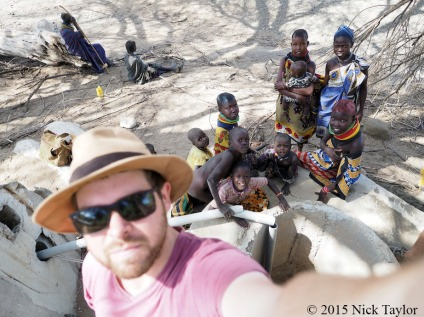 2015_Nick with inquisitive neighbours at the broken WTAP well