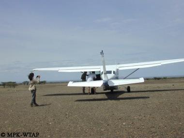 at the airstrip 610