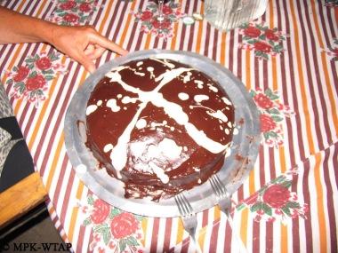 Birthday cake at camp