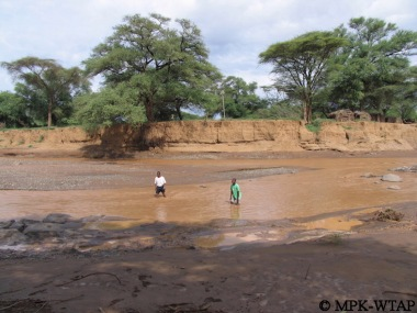 Crossing the river to get to Turkana