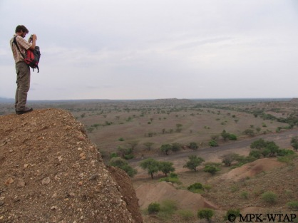Geologist Mathieu Schuster on top of the world