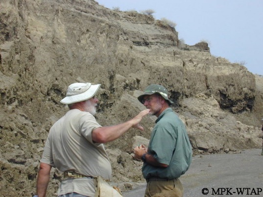 Jean-Jacques Tiercelin and Craig Feibel discussing Geology