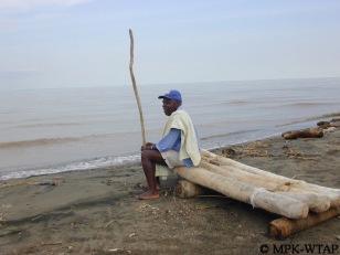 Kamoya Kimeu at Lake Turkana