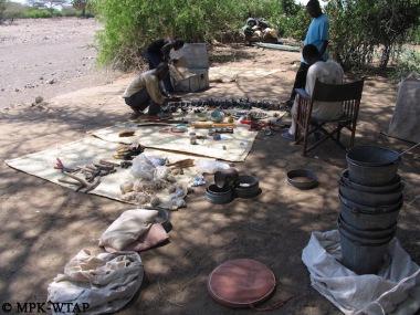 organising the excavation tools