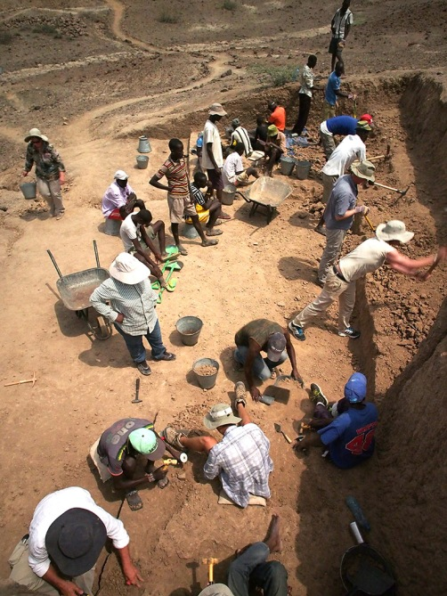 This many people excavating remotely requires a lot of hard work