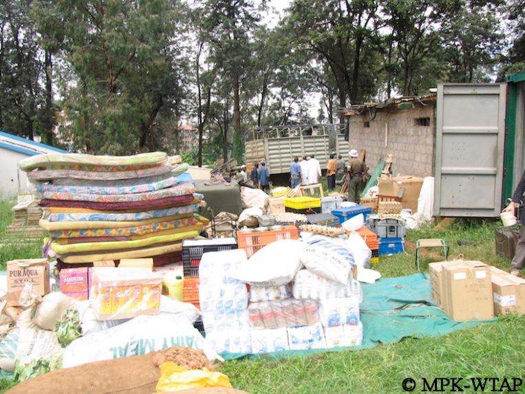 packing field gear at the NMK Nairobi