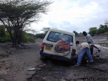 Stuck fast in the muddy lagga!