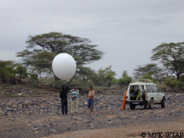 taking aerial photos with a helium balloon