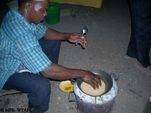 Chef BK making Chapatti