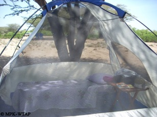 Keeping cool for those hot Turkana nights