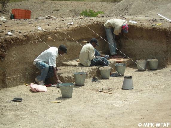 Nasura 1 under excavation
