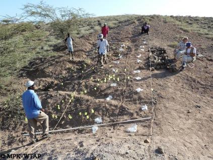 Plotting surface finds at Nachukui 6