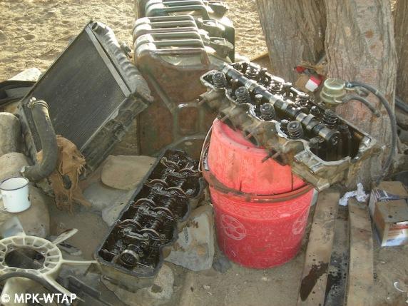 rebuilding the car engine