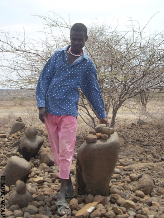 Sammy at a 4000 year old Pillar site