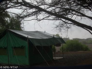 Storm at camp
