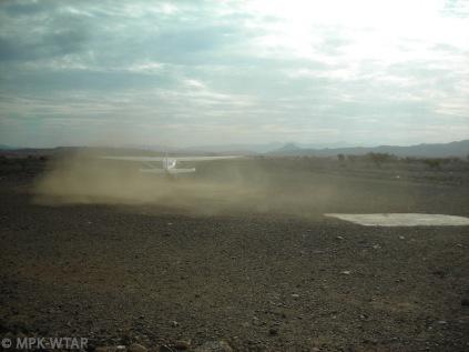taking off from a bush landingstrip