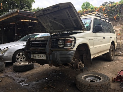 The project vehicle, in dire need of repairs