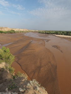 the Turkwel River, Turkana