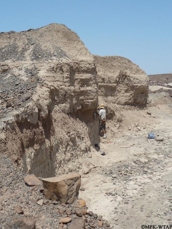2011_Geologist Chris Lepre taking samples