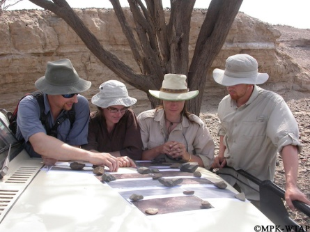 2011_Xavier, Sandrine, Sonia and Jason planning the survey