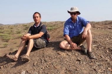 2012_Geologist Arnauld Lenoble with Jason Lewis