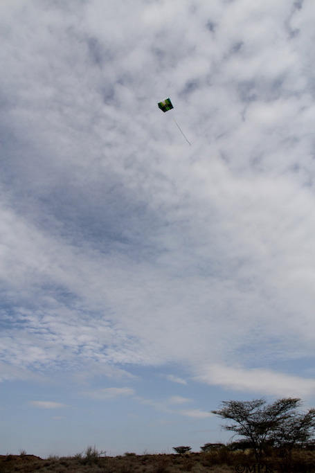 2012_Kite used to take aerial photos of the excavation