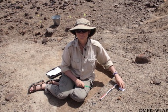 2012_Sonia excavating a test trench