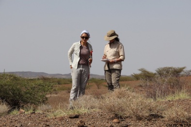 2012_Sophie and Sonia in the field