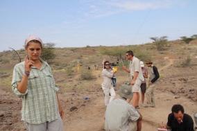 2012_Taking aerial photos while the team excavates