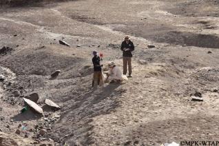 2015_Nick, Sonia, and Sammy at the Nasura 3 Oldowan site