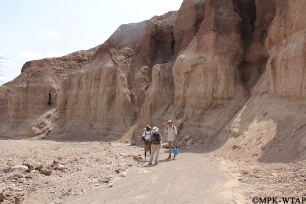 2015_Sammy, Xavier, and Sandrine examining outcrops