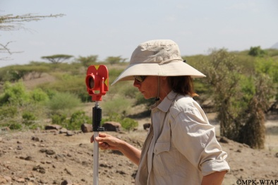 2016_Sonia plotting with the total station