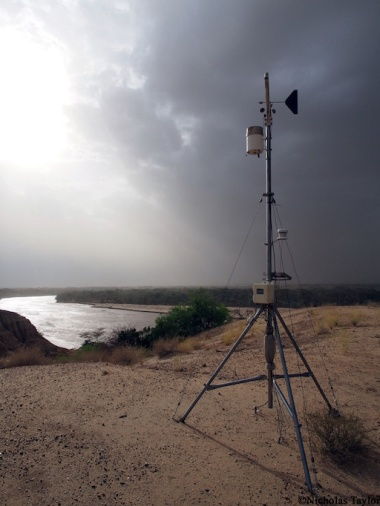 2016_The weather station at TBI turkwell as a storm rolls in