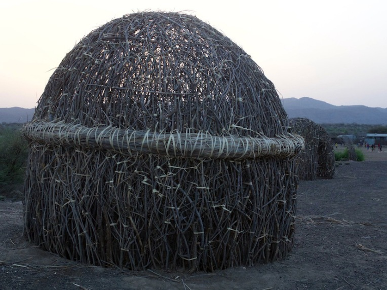 A typical Turkana house under construction