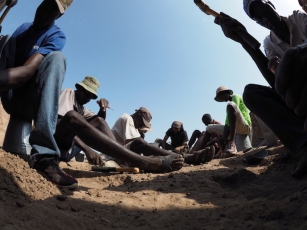 An ants eye view of the excavation