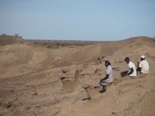 Daoudi, Ali and Mzee near Lomekwi 3