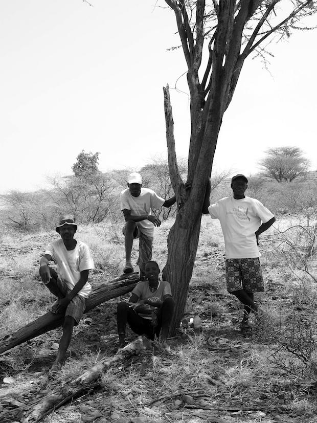Excavators Benjamin, Mzee, Veronica and Charles (L-R)