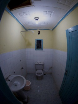 Hotel room bathroom at the Lodwar Lodge