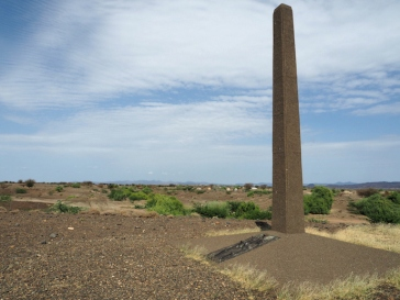 Monument to the Turkana boy at Nariokotome, where the fossils were recoveredJPG