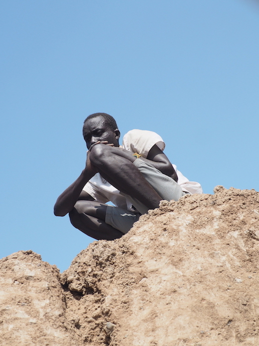 On of our local Turkana helpers with typical facial scarification