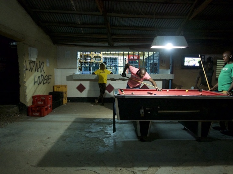 Red, Amber and Green poolplayers at the Lodwar Lodge