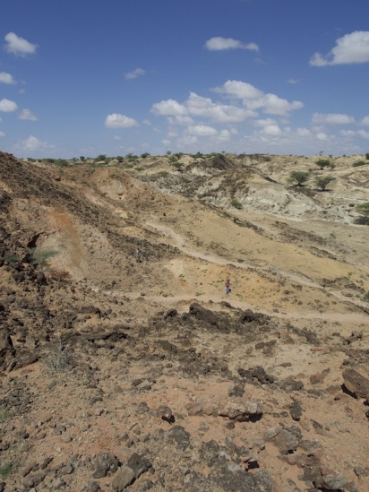 Sammy lost in a vast Turkana landscape